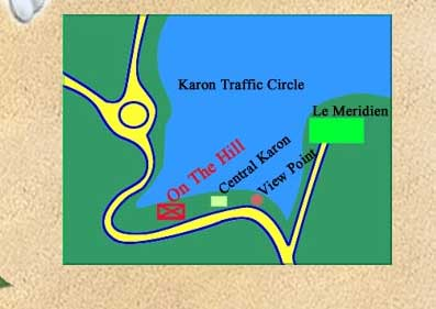 MAP AND DIRECTION of On the hill Karon